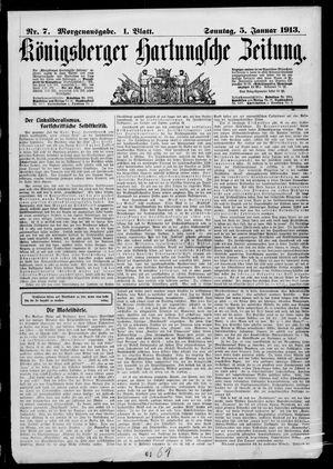 Königsberger Hartungsche Zeitung vom 05.01.1913
