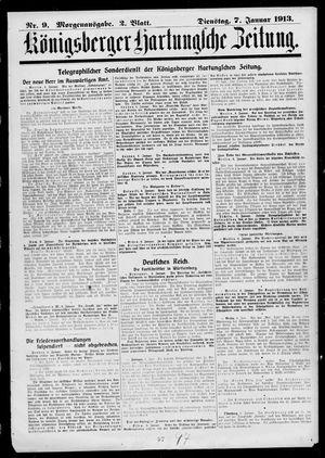 Königsberger Hartungsche Zeitung vom 07.01.1913