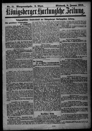 Königsberger Hartungsche Zeitung on Jan 8, 1913