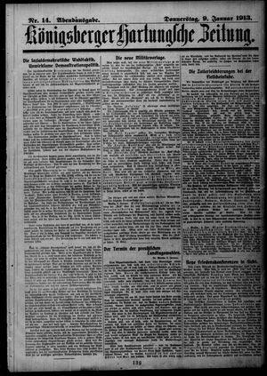 Königsberger Hartungsche Zeitung vom 09.01.1913