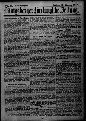 Königsberger Hartungsche Zeitung vom 10.01.1913