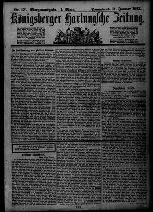 Königsberger Hartungsche Zeitung vom 11.01.1913