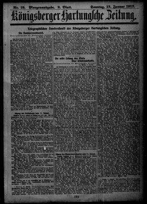 Königsberger Hartungsche Zeitung vom 12.01.1913