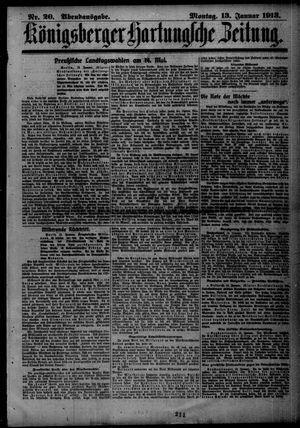 Königsberger Hartungsche Zeitung vom 13.01.1913
