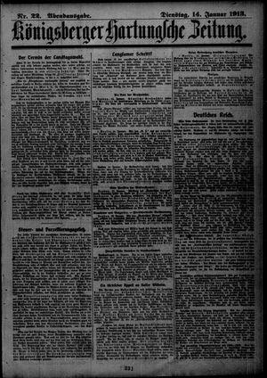 Königsberger Hartungsche Zeitung vom 14.01.1913