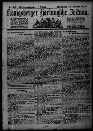 Königsberger Hartungsche Zeitung vom 15.01.1913