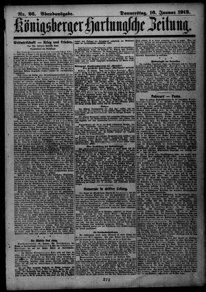 Königsberger Hartungsche Zeitung on Jan 16, 1913