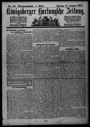 Königsberger Hartungsche Zeitung vom 17.01.1913
