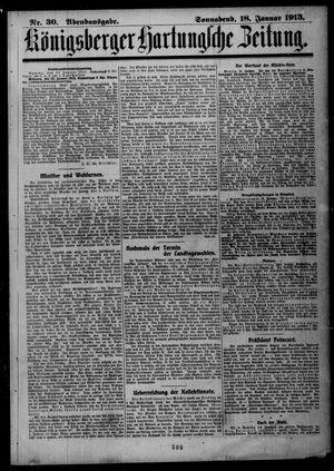 Königsberger Hartungsche Zeitung vom 18.01.1913