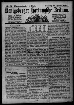 Königsberger Hartungsche Zeitung vom 19.01.1913