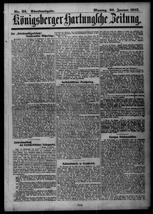 Königsberger Hartungsche Zeitung vom 20.01.1913