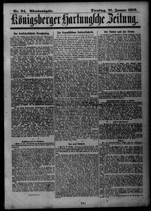 Königsberger Hartungsche Zeitung vom 21.01.1913