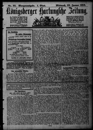 Königsberger Hartungsche Zeitung vom 22.01.1913