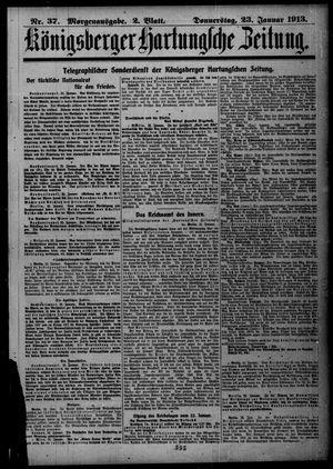 Königsberger Hartungsche Zeitung vom 23.01.1913