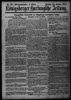 Königsberger Hartungsche Zeitung vom 24.01.1913