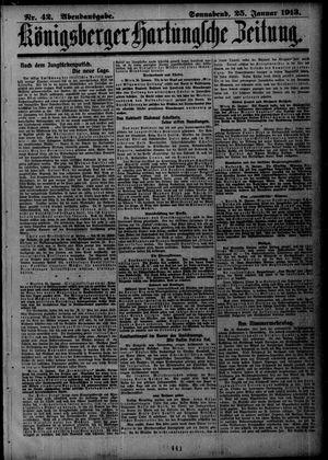 Königsberger Hartungsche Zeitung vom 25.01.1913