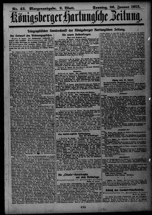 Königsberger Hartungsche Zeitung vom 26.01.1913