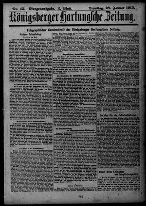 Königsberger Hartungsche Zeitung vom 28.01.1913