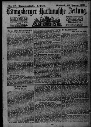 Königsberger Hartungsche Zeitung vom 29.01.1913