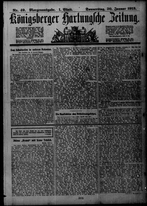 Königsberger Hartungsche Zeitung vom 30.01.1913