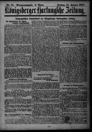 Königsberger Hartungsche Zeitung vom 31.01.1913