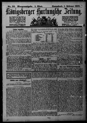 Königsberger Hartungsche Zeitung vom 01.02.1913
