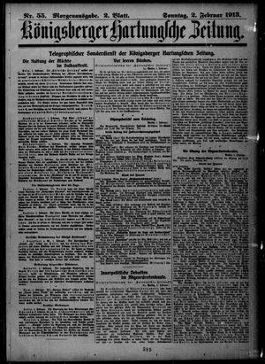 Königsberger Hartungsche Zeitung vom 02.02.1913