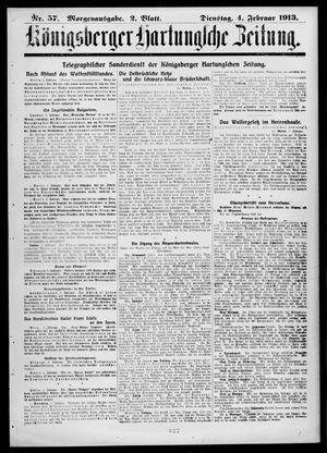 Königsberger Hartungsche Zeitung on Feb 4, 1913