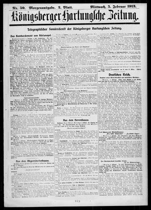 Königsberger Hartungsche Zeitung vom 05.02.1913