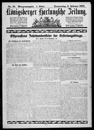 Königsberger Hartungsche Zeitung on Feb 6, 1913