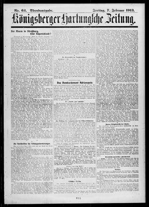 Königsberger Hartungsche Zeitung vom 07.02.1913