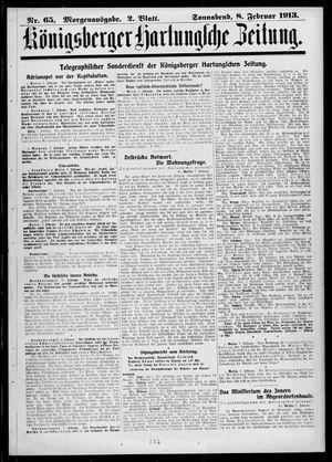 Königsberger Hartungsche Zeitung vom 08.02.1913