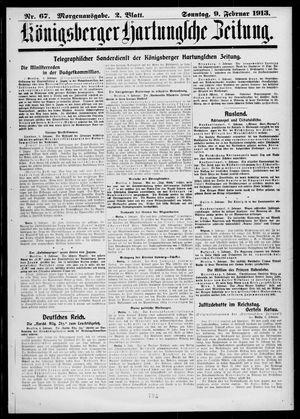 Königsberger Hartungsche Zeitung vom 09.02.1913