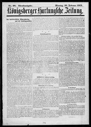 Königsberger Hartungsche Zeitung vom 10.02.1913