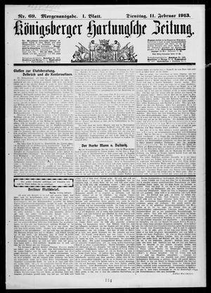 Königsberger Hartungsche Zeitung vom 11.02.1913