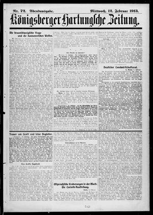 Königsberger Hartungsche Zeitung vom 12.02.1913