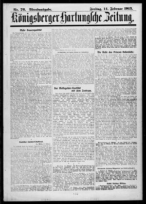 Königsberger Hartungsche Zeitung vom 14.02.1913
