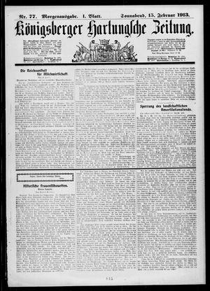 Königsberger Hartungsche Zeitung vom 15.02.1913