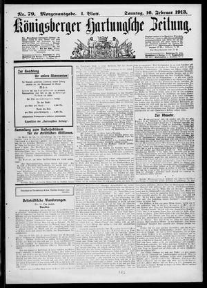 Königsberger Hartungsche Zeitung vom 16.02.1913