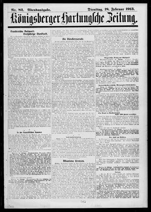 Königsberger Hartungsche Zeitung vom 18.02.1913