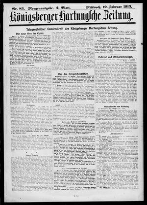 Königsberger Hartungsche Zeitung vom 19.02.1913