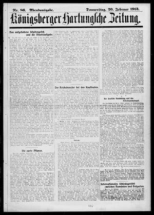 Königsberger Hartungsche Zeitung vom 20.02.1913