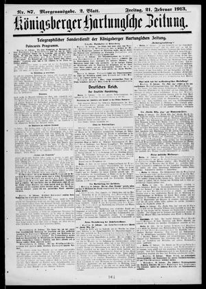 Königsberger Hartungsche Zeitung vom 21.02.1913