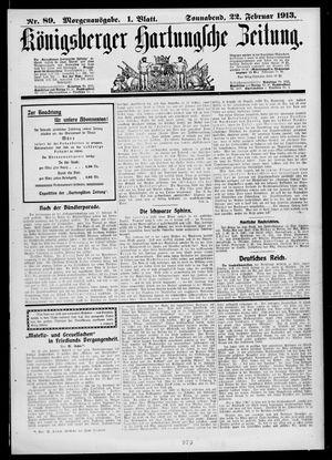Königsberger Hartungsche Zeitung vom 22.02.1913