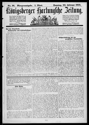 Königsberger Hartungsche Zeitung vom 23.02.1913