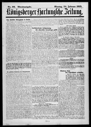 Königsberger Hartungsche Zeitung vom 24.02.1913