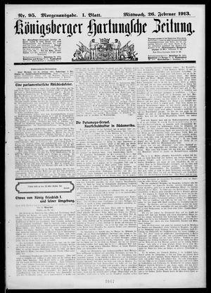 Königsberger Hartungsche Zeitung vom 26.02.1913