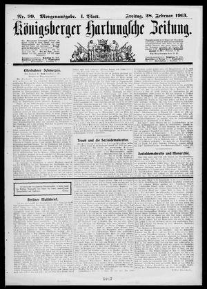 Königsberger Hartungsche Zeitung on Feb 28, 1913
