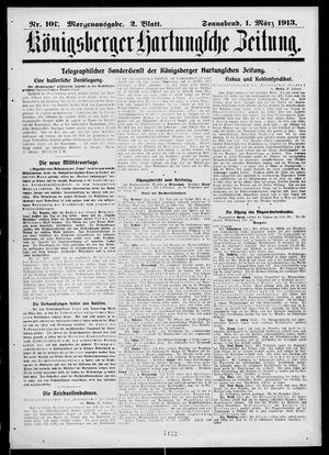 Königsberger Hartungsche Zeitung on Mar 1, 1913