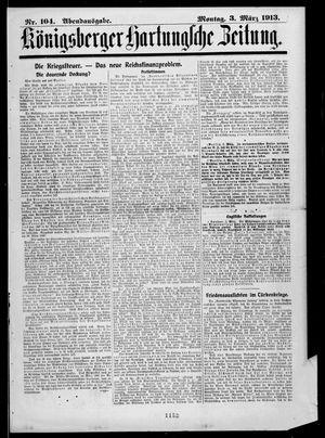 Königsberger Hartungsche Zeitung vom 03.03.1913